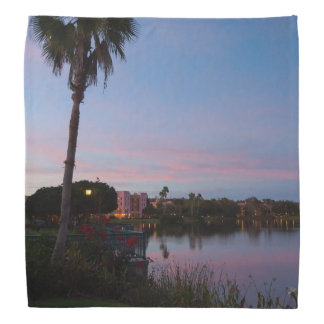 Evening By The Palm Tree Bandana
