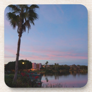 Evening By The Palm Tree Coaster
