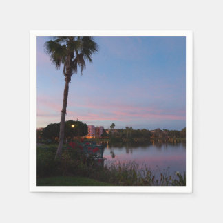 Evening By The Palm Tree Disposable Napkins