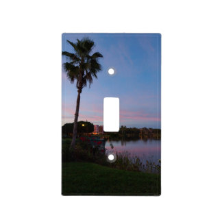 Evening By The Palm Tree Light Switch Cover
