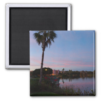 Evening By The Palm Tree Magnet