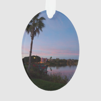 Evening By The Palm Tree Ornament