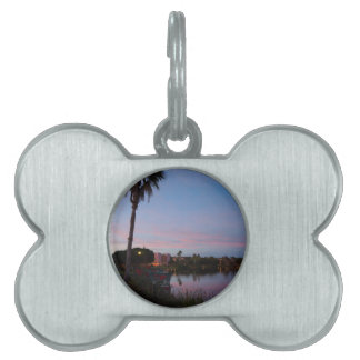 Evening By The Palm Tree Pet Tag