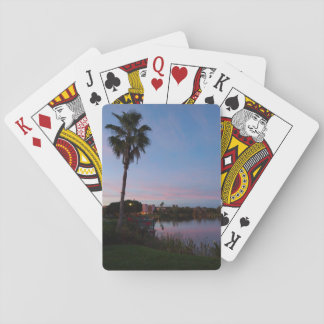 Evening By The Palm Tree Playing Cards