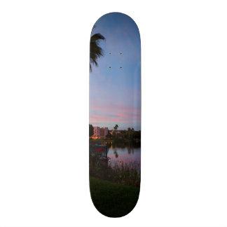 Evening By The Palm Tree Skate Decks