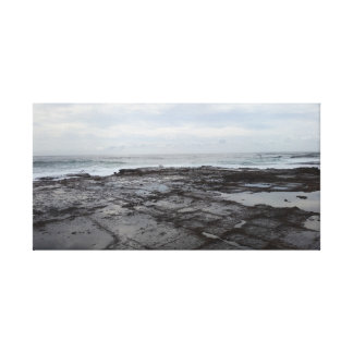 Evening by the rock pool canvas print