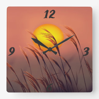 Evening By The Sun |  Wall Clock