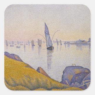 Evening Calm, Concarneau Square Sticker