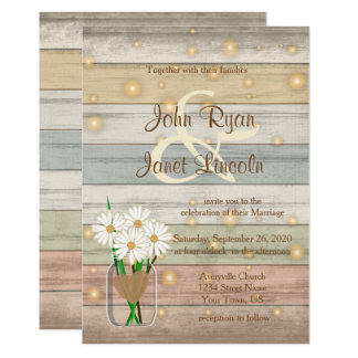 Evening Firefly Wedding Design Card