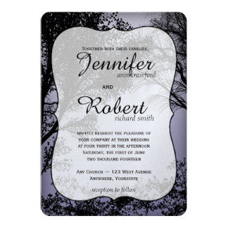Evening Forest Metallic Wedding Invitation