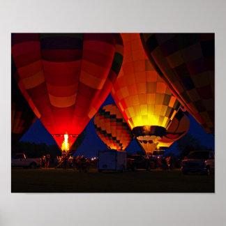 Evening Glow Hot Air Ballon Fine Art Poster