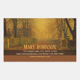 Evening glow Stay in touch Atkinson Grimshaw Sticker
