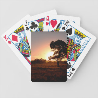 Evening Gold Bicycle Playing Cards