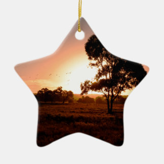 Evening Gold Ceramic Ornament