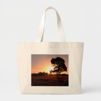 Evening Gold Large Tote Bag