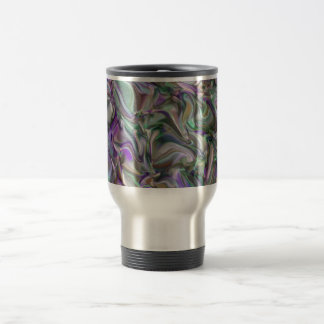 Evening in an olive grove travel mug