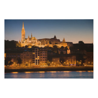 Evening in Budapest Wood Print