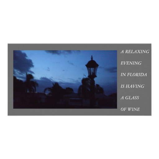 EVENING IN FLORIDA CUSTOMIZED PHOTO CARD