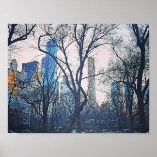 Evening in Manhattan Poster