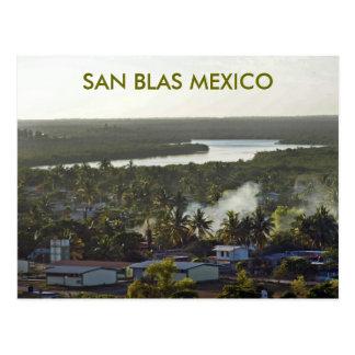 Evening in San Blas Mexico Postcard
