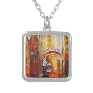 Evening in Venice Silver Plated Necklace
