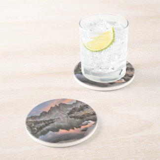 Evening Kearsarge Pinnacles Reflections Beverage Coasters