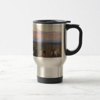 Evening landscape with herd of goats by Ferdinand Travel Mug