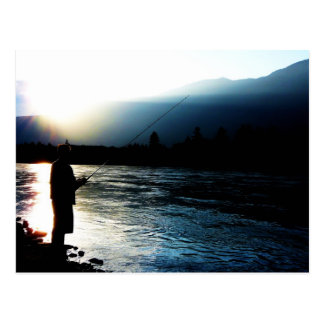 Evening Light Fisherman Postcard