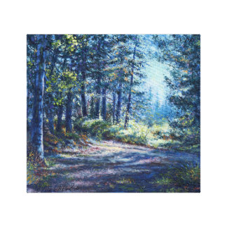 """""""Evening Light On the Trail"""" Wrapped Canvas Print"""
