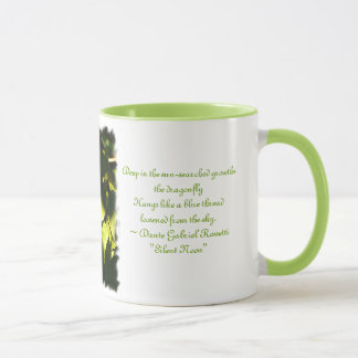 Evening Light with Mosaic Dragonfly/Poem Mug
