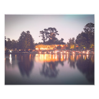 Evening Lights in Hermann Park Photo Print