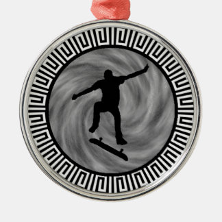 EVENING OF SKATEBOARDING METAL ORNAMENT