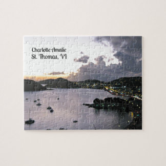 Evening on Charlotte Amalie, St. Thomas VI Jigsaw Puzzle