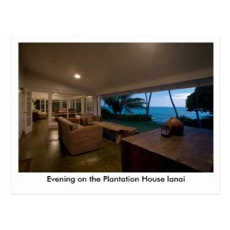 Evening on the Plantation House Lanai Postcard