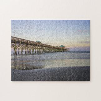 Evening Peace On Folly Beach Jigsaw Puzzle