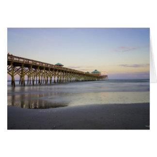 Evening Peace On Folly Beach Note Card