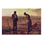 Evening Prayer By Millet  (Best Quality) Poster