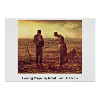Evening Prayer By Millet (Ii) Jean-Francois Poster
