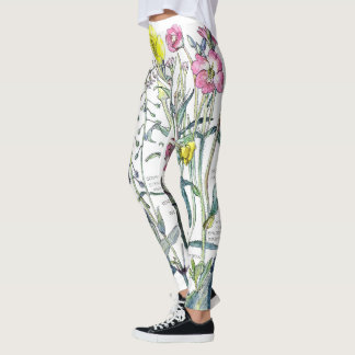 Evening Primrose Flowers All Over Print Leggings