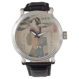 Evening Rain at Karasaki Japanese Vintage Art Wristwatches