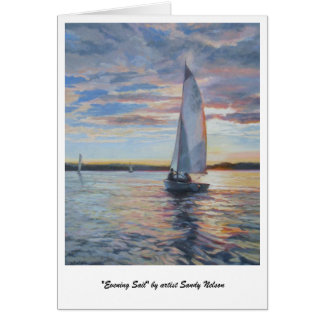 """Evening Sail"" by artist Sandy Nelson Card"