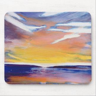 Evening seascape mouse pad