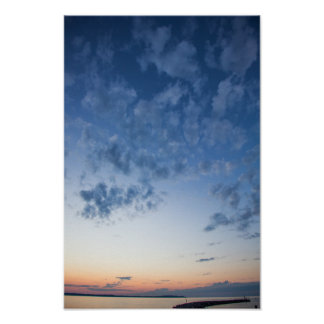 Evening Sky, Elk Rapids, Michigan Poster