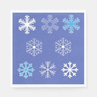 Evening Snowflakes Disposable Napkins