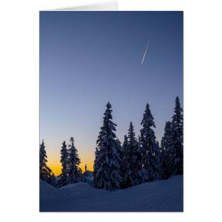 Evening Snowscape Card