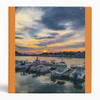 Evening sunset over Hull, Massachusetts 3 Ring Binders