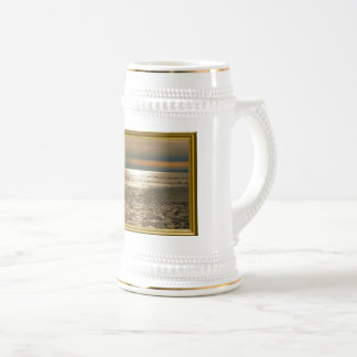 Evening tendency at the sea beer stein