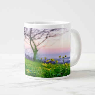 evening tree giant coffee mug