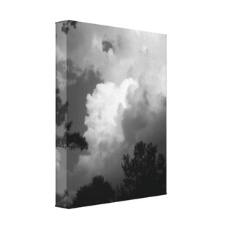 Evening Twilight Clouds Small Stretched Canvas Stretched Canvas Prints