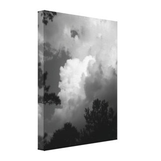 Evening Twilight Clouds Stretched Canvas Print